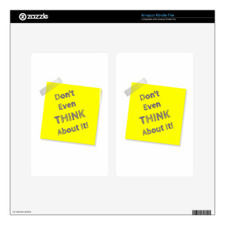 Don't even think about it kindle fire decals