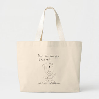 Don't Even Think About Poking Me Canvas Bags