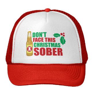 Don't face this Christmas Sober Mesh Hat