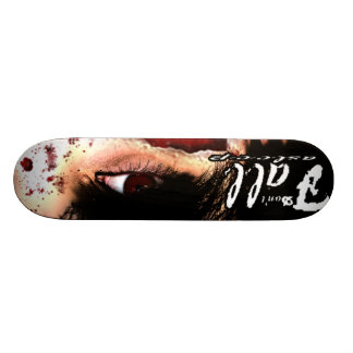 """don't fall asleep"" Zombie Skate Deck"