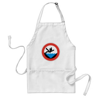 Don't Fall in the Water Sign, Germany Adult Apron