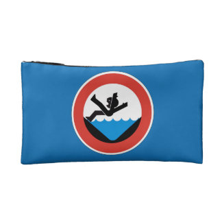 Don't Fall in the Water Sign, Germany Cosmetic Bag