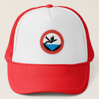 Don't Fall in the Water Sign, Germany Trucker Hat