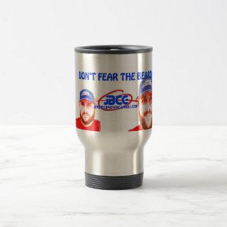Dont Fear the Beard with JBCG! Travel Mug