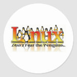 Don't fear the Penguins Classic Round Sticker