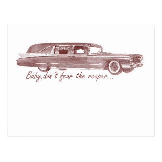 Don't fear the reaper Hearse Design Postcard