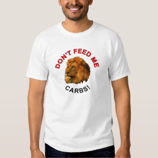 Don't feed me carbs respect ginger for keto lovers t-shirt