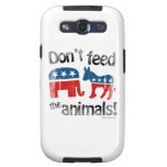 Don't Feed the Animals Party Politics Galaxy SIII Cases