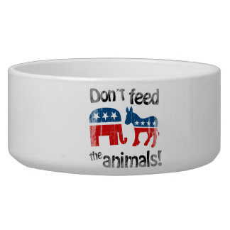 Don't Feed the Animals Party Politics Pet Bowls