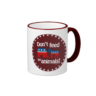 Don't Feed the Animals Ringer Coffee Mug
