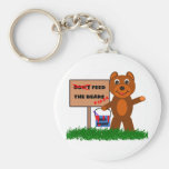 Don't Feed The Bears Basic Round Button Keychain