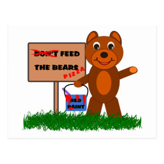 Don't Feed The Bears Postcards