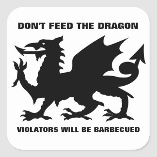 Don't Feed the Dragon Sticker