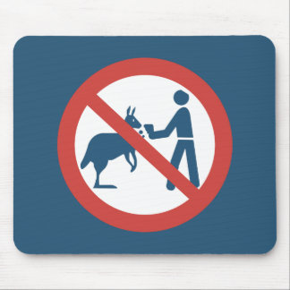 Don't Feed the Kangaroos Sign, Australia Mouse Pad