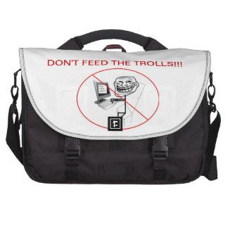 dont feed the trolls bag laptop bag