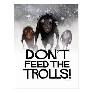 Don't Feed the Trolls Funny Monster Internet Troll Postcard