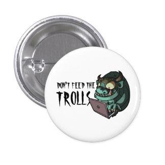 Don't Feed The Trolls Internet Troll Web Cartoon Button