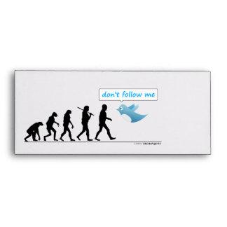 don't follow me - Funny Envelope