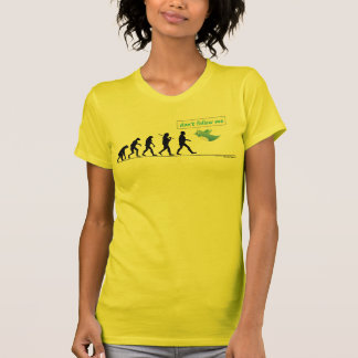 """""""Don't Follow Me"""" - Funny yellow T-Shirt for Girls"""