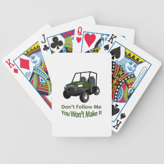 DONT FOLLOW MW BICYCLE PLAYING CARDS