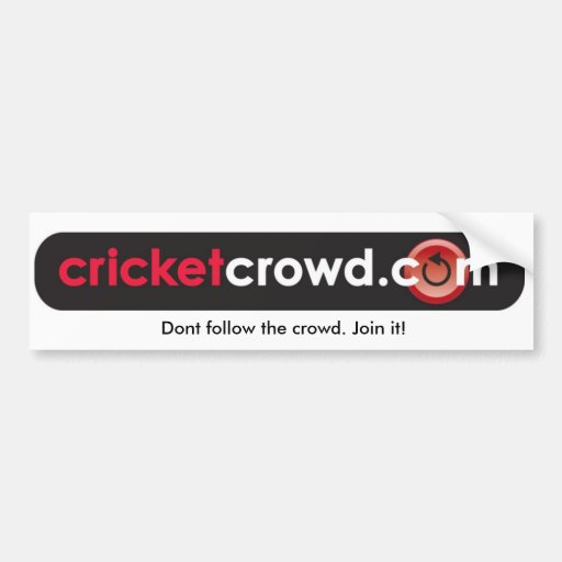 Dont follow the crowd. Join it! Bumper Stickers