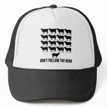 Don't Follow the Herd of Sheep - Be Yourself Trucker Hat