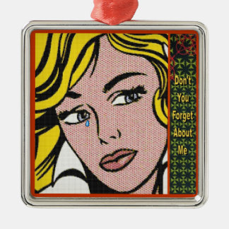 Don't Forget 1 Square Metal Christmas Ornament