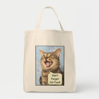 Don't Forget Cat Food Grocery/Book Tote