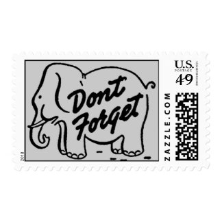 Dont Forget Elephant Postage