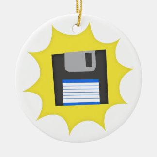 Don't forget floppy disks ceramic ornament