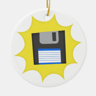 Don't forget floppy disks ornaments