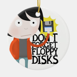 Don't forget floppy disks christmas tree ornaments