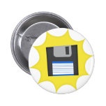 Don't forget floppy disks pinback button