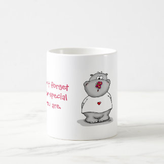 Don't forget how special you Hippo with Butterfly Coffee Mug