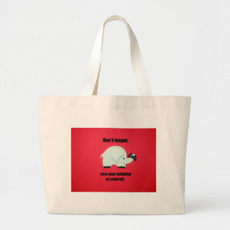 Don't forget: Love your neighbor as yourself Jumbo Tote Bag