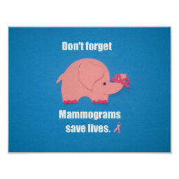 Don't forget Mammogram save lives. Poster