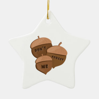 Dont Forget Me Double-Sided Star Ceramic Christmas Ornament