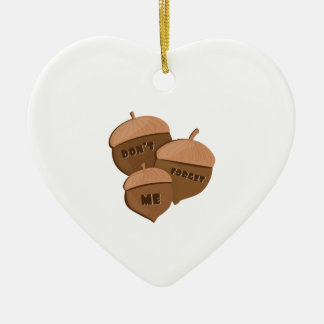 Dont Forget Me Double-Sided Heart Ceramic Christmas Ornament