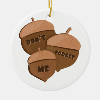 Dont Forget Me Double-Sided Ceramic Round Christmas Ornament