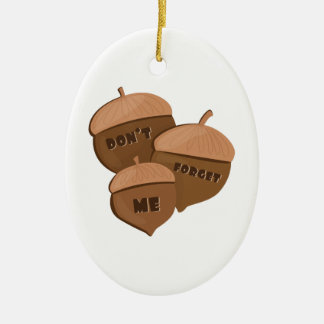 Dont Forget Me Double-Sided Oval Ceramic Christmas Ornament