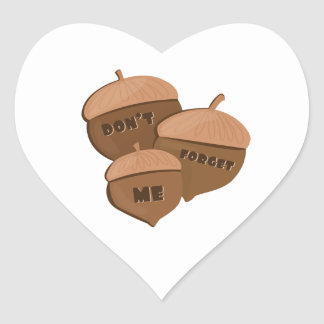 Dont Forget Me Heart Sticker