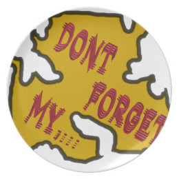 Dont forget my dinner plate  sc 1 st  Zazzle : my dinner plate - pezcame.com