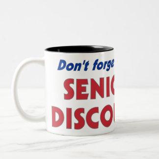 "Don't Forget My ""Senior Discount"" Two-Tone Coffee Mug"