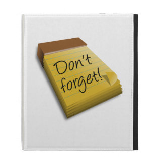 Don't Forget Notepad iPad Case