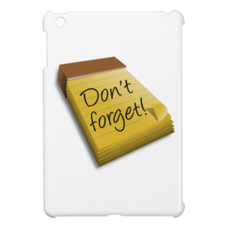 Don't Forget Notepad iPad Mini Cases