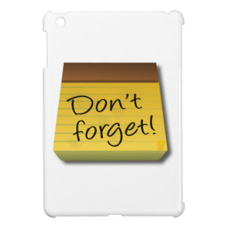 Don't Forget Notepad iPad Mini Cover