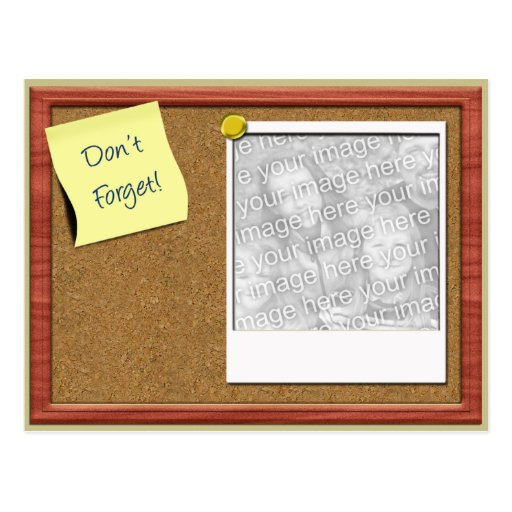 Don't Forget Photo Template Post Cards