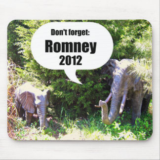 Don't forget, Romney 2012 Mouse Pad