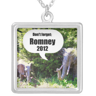 Don't forget: Romney 2012 Square Pendant Necklace