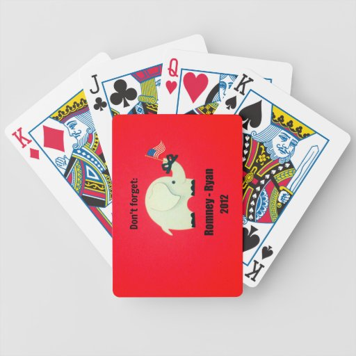 Don't forget: Romney - Ryan 2012 Bicycle Card Deck